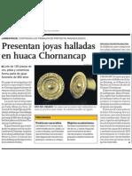Descubrimiento Arqueológico Joyas de Huaca Chornancap
