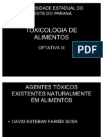 AGENTES TOXICOS NATURAIS