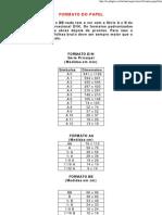 FORMATO DO PAPEL - Offset e Digital