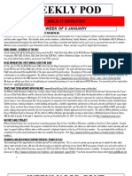 FRO WEEKLY PLAN OF THE DAY, THE WEEK OF 9 JANUARY 2012