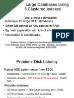 Optimizing Large Databases Using InnoDB Clustered Indexes