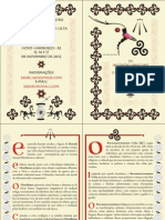 Folder do III Encontro Brasileiro de Druidismo e Reconstrucionismo Celta