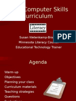 Basic Computer Skills Curriculum