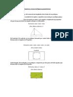Perímetros y áreas de Figuras Geométricas