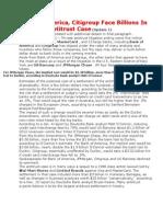 Bank of America & CitiGroup May Be Facing Billions IN Losses - Antitrust case 2012 -bu retailers