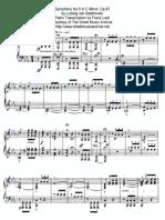 Beethoven - 5th Symphony (Piano Solo Transcription by Franz Liszt)