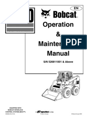 Bobcat S150 - Operation Manual - 1774 | Loader (Equipment