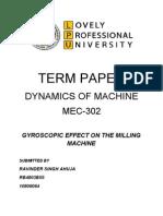 Gyroscopic Effect