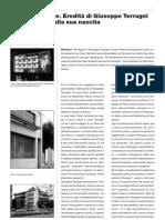 Architettura - GIUSEPPE TERRAGNI - Eredità a Un Secolo Dalla Nascita