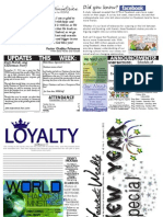 WHM Weekly Newsletter -  1 January 2012