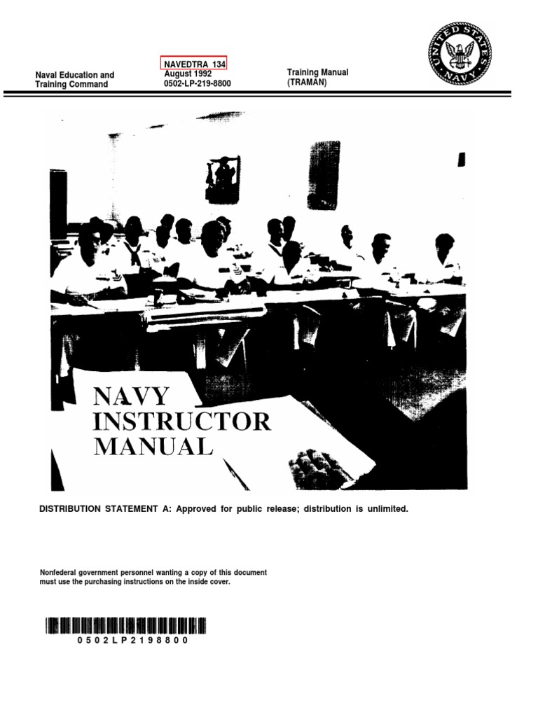 us navy course navedtra 134 navy instructor manual motivation rh scribd com NAVEDTRA Website NAVEDTRA Courses