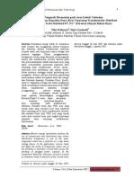 Studi Pengaruh Harmonisa Pada Arus Listrik Terhadap Besarnya Penurunan Kapasitas Daya Kva Terpasang Transform A