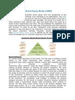Customer Based Brand Equity Model