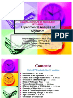 Experimental Analysis of Algorithm