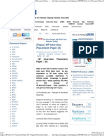 (Paper) HP Interview Placement Paper (II) _ Original Placement Papers Website for Freshers Since 2005