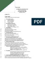 2006 Biologie Etapa Judeteana Subiecte Clasa a XI-A 1