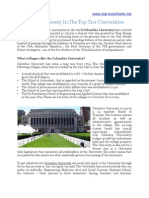Columbia University in the Top Tier Universities