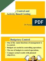Budgetery Control & ABC