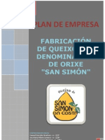 """PLAN DE EMPRESA FABRICACIÓN DE QUEIXO CON DENOMINACIÓN DE ORIXE """"SAN SIMÓN"""""""