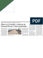 Muelle de Pimentel cerrado al turismo por mala gestión pública