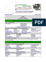 4th National Conference on Social Entrepreneurship - Schedule