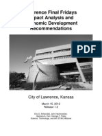 Final Fridays Impact Analysis and Economic Development Recommendations