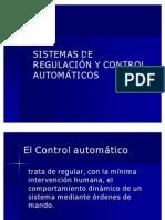 SISTEMAS DE REGULACIÓN Y CONTROL AUTOMÁTICOS
