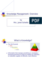 Scheitle on Knowledge Management