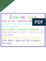 Snowman Glyph 2012