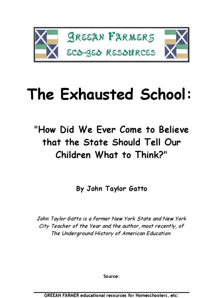 john gatto against school pdf