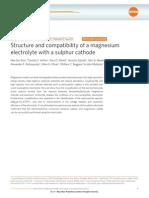 Mg Sulphur Battery Paper