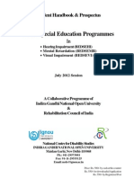 B.ed. Special Education-Student Handbook & Prospectus-July,2012 Session