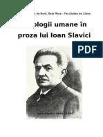 Tipologii Umane in Proza Lui Slavici