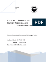 FACTORS INFLUENCING SMES' Export Performance