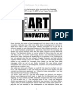 Guy Kawasaki - The Art of Innovation, Speech (ENG)