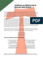 Poblers i pobleres en defensa de la llengua per Sant Antoni
