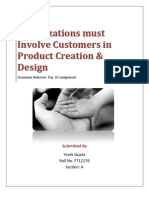 Organizations Must Involve Customers in Product Creation