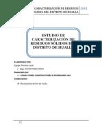 Estudio de Carcaterizacion de Residuos Solidos en Hualla