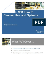 SAP IM vs WM, How to Choose Use and Optimize
