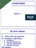 Algoritmike - 2011 - Leksion 1