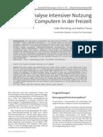 Anreizanalyse Intensiver PC Nutzung