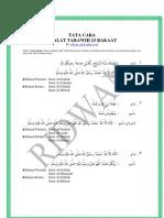 Tata Cara Shalat Tarawih 23 Rakaat