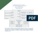Plan de evaluacion 4to matematica (2do lapso)