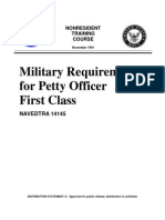 US Navy Course NAVEDTRA 14145 - Military Requirements for Petty Officer First Class
