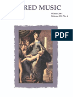 Sacred Music, 128.4, Winter 2001; The Journal of the Church Music Association of America