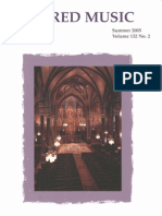 Sacred Music, 132.2, Summer 2005; The Journal of the Church Music Association of America