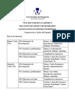 Plan de Evaluación Composición del Español