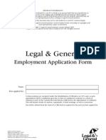 L&G Employment Application Form March 2007