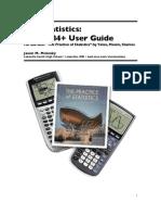 AP Statistics _TI83+84+ User Guide