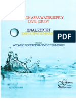 Pavillion (WY) Area Water Study Level 1 Executive Summary, October 2011